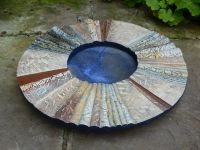 Composite stoneware flange dish. 560 mm dia. 2013