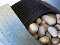 Stoneware planter . Detail. July 2013
