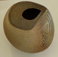 'Black Hole' 15cm dia.Rutile glaze. 2014 .£205