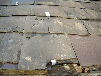 Re-Roofing with existing slates