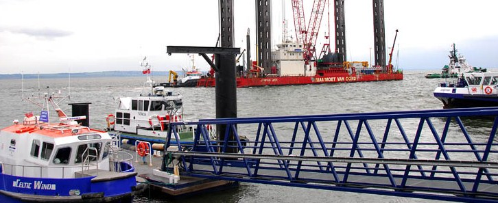 Operations and maintenance required for offshore windfarm construction