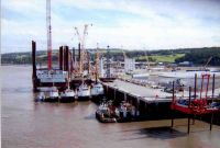 2005 ''The Fleets in''. Offshore windfarm construction vessels in Port