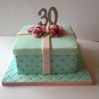 30th Box Cake