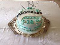 Piano 18th Cake