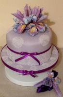 Iris 80th Cake