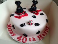 Patterdale Dogs Birthday Cake