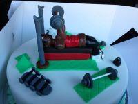 Weight Lifter Cake
