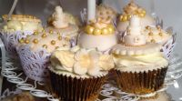 Gold and Ivory Wedding Cupcakes