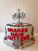 Drakes Haircutters Anniversary Cake