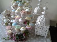 Pastel shades look charming on cupcakes.