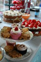 Cakes fit for wedding breakfast, lunch or tea.
