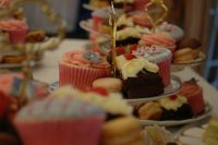 Such a pretty selection of cakes for the wedding breakfast
