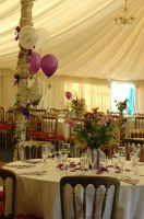 Kings Acres marquee at a wedding in Saughall