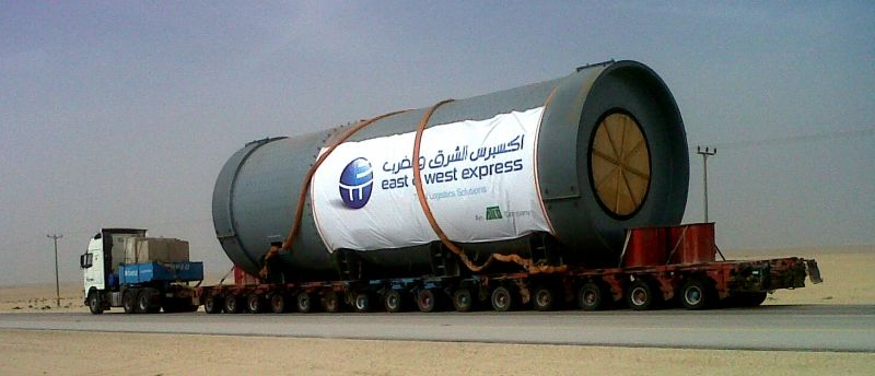 182 tons of cement grinding mill on its 100km road trip across Saudi