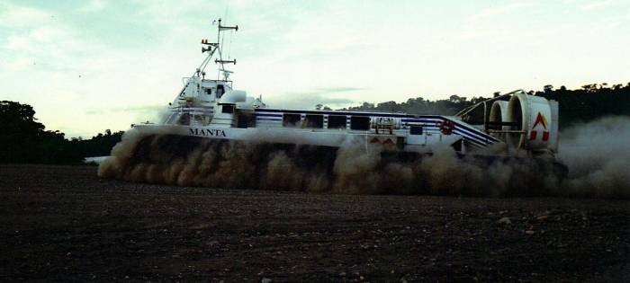 Hovercraft in the dry season