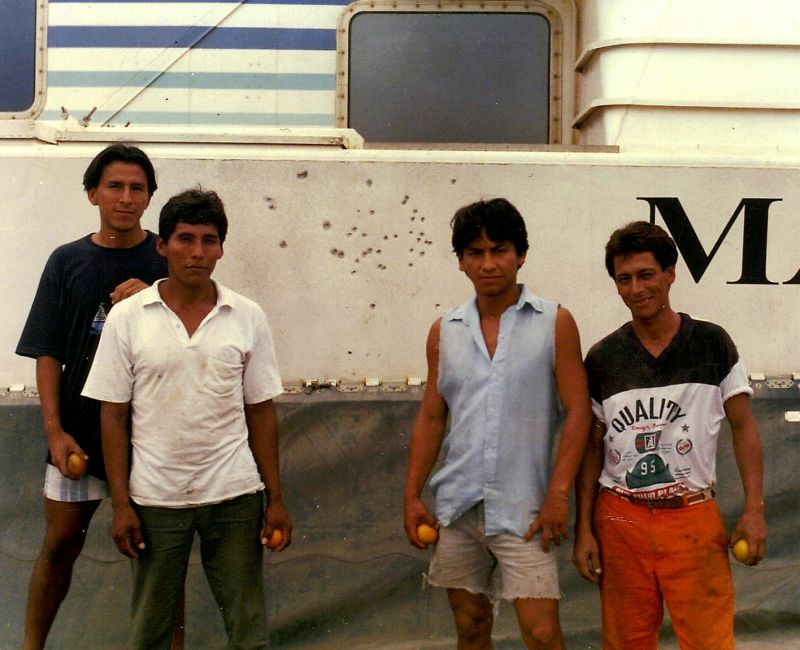 Gun shot damage to hovercraft in Ataylaya Peru