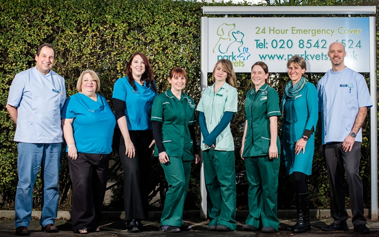 The team at Park Vets - finalists for offering