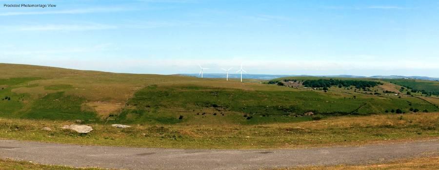 Image of Photomontage from Mynydd Cilfach yr Enfil