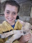 Ben Hepburn with the lambs in the lambing season easter 2012